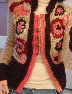 Ravelry: Medallion Cardigan pattern by Teva Durham