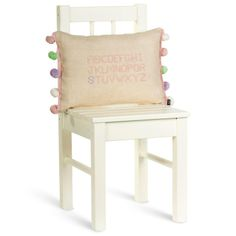Alphabet Cushion – Rose Pink - Textile Poets