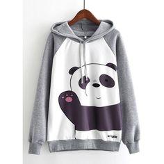 2019 Woman Sweatshirt Panda Say Hello Print Women Hoodie Long . 2019 Woman Sweatshirt Panda Say Hello Print Women Hoodie Long womans hoodie sweatshirts - Woman Sweatshirts White Hooded Sweatshirt, Long Hoodie, White Hoodie, Fleece Hoodie, Hoodie Sweatshirts, Long Sleeve Tops, Ideias Fashion, Clothes, Cartoon Panda