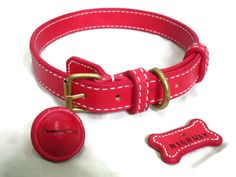 """Red set!! Need custom collar tag & leashes for your furry friends contact us via line : ptags_shop or search for us as """"PTagsShop"""" on Etsy #pettag #petgift #petcollars #fancycollars #dogtag #doggift #dogcollarsforsale #dogcollars  #instadog #doglovers #dogofinstagram  #handmade  #etsy #ptagsshop #ptagsshoponetsy #madetoorder #ptags_shop #ปลอกคอหมา #ปลอกคอแมว #ปลอกคอสนข #ปายชอแมว #ปลอกคอหนงแท #ปลอกคอนองหมา #ปายชอสนข #สายจง #dogleashes #dogleash #dogthailand #catsofinstagram #chokechain by… Pet Collars, Dog Leash, Pets, Stylish, Instagram Posts, Accessories, Animals And Pets"""