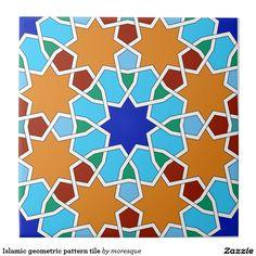 Shop Islamic geometric pattern tile created by moresque. Geometric Patterns, Tile Patterns, Pattern Art, Pattern Designs, Geometry Art, Sacred Geometry, Arabesque, Islamic Tiles, Decorated Wine Glasses