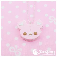 Moon Bunny | Cookie bear (pink) necklace | Online Store Powered by Storenvy