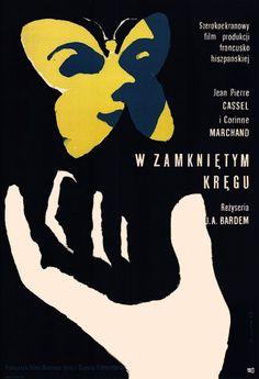 Vintage Polish movie poster 1965 by Wiktor Gorka : W zamknietym kregu