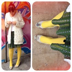 Yellow submarine  #socks #shoes #highheels #outfit #fashion #whatiwore #owls #dogoshoes #dogostore http://doorstepping.blogspot.com