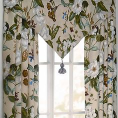 Decorate Your Bedroom With The Elegant And Traditional Williamsburg Garden Images  Window Treatments. The Beautiful Panels And Valance Features Blossoming ...