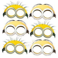 Free Printable Character Face Masks | Minion party | Pinterest ...
