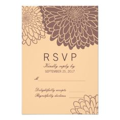 Stylish Chrysanthemums Floral RSVP Response Card. Perfect for your autumn wedding. #rsvp #response #floral #flower #flowers #autumn #fall #chrysanthemum #chrysanthemums #neutral #romantic #nature #lovely #beautiful #unique #wedding #collections #collection #elegant #wedding #template #templates #marriage #special #occasion #custom #decoration #customizable #decorative #trend #trendy #modern