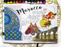 ✅Марокко-страна с богатейшей историей и культурой...а вы знали что ислам запрещает любые изображения человека? Именно так в этой культуре и появился орнамент, становясь все более затейливым, искусным и выразительным, напоминающим волшебство... #sketchmarkersclub #скетчбук #скетчинг #leuchtturm1917 #markers #art_markers #sketch #sketchbook #art #sketching #скетчмарафон_скетчмаркер #watercolor #орнамент #марокко #мандарины