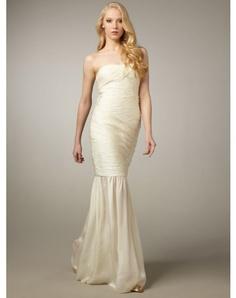 2012 Style Trumpet / Mermaid Strapless Ruffles Sleeveless Floor-length Chiffon Prom Dresses / Evening Dresses (SZ021175 )