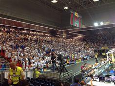 Fiba worldcup Bilbao 2014 - Finnish basketball audience supports susijengi