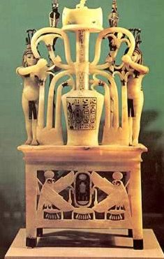 Alabaster perfume vase from King Tut's tomb