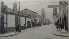 Vista de calle Chacabuco con Atacama. Fotografía de los años 70.