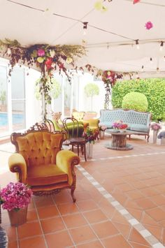 Beautiful for an outdoor wedding reception seating area.
