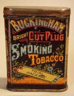 BUCKINGHAM VP TOBACCO TIN