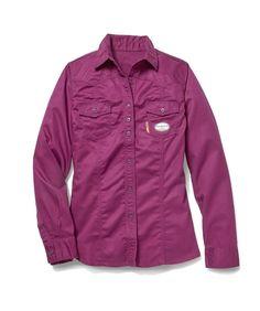 136d256d788b Rasco FR Women s FR W-PK759 Plum Work Shirt Cuff Sleeves