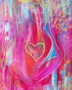 Acryl on Canvas: Silence Love