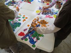 Musical Chairs Art inspired by The Artful Parent PreK
