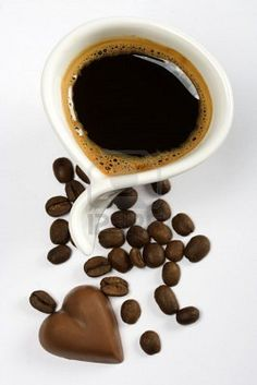 "Cup of espresso coffee with chocolate heart. ""I Love Coffee"" Coffee Heart, Coffee Is Life, I Love Coffee, Hot Coffee, Coffee Break, Morning Coffee, Coffee Cups, Coffee Aroma, Coffee Lovers"