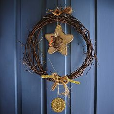 Handcrafted decorative star wreath