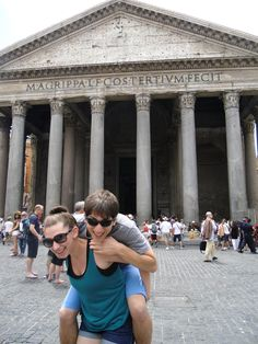 My babies at the Pantheon, Rome
