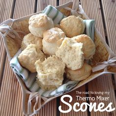 Thermomix - Scones are always a big hit in most households. I have never had a great deal of success with them until recently. Lemonade scones are something I have Jam Recipes, Sweet Recipes, Snack Recipes, Cooking Recipes, Snacks, Thermomix Scones, Thermomix Desserts, Bellini Recipe, Tray Bakes