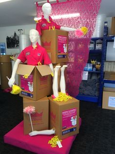 """STORAGE KING,Grey Lynn, Auckland,New Zealand, """"Spring Cleaning,Breast Cancer Promotion"""", created by Ton van der Veer"""