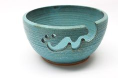 Bridges Pottery Large Yarn Bowl  Knitting Bowl by bridgespottery