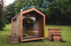 Arbor Range of Luxury Outdoor Saunas — Heartwood Saunas - Modern Design Diy Sauna, Sauna Ideas, Sauna House, Tyni House, Jacuzzi, Mobile Sauna, Piscina Spa, Traditional Saunas, External Cladding