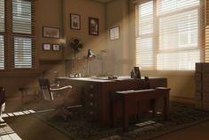 detective office  by ~shinobebop  Digital Art / 3-Dimensional Art / Scenes / Interiors