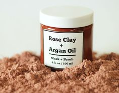 Rose Clay and Argan Oil Face Mask Recipe and Video Tutorial