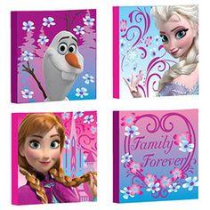 Disney Frozen Canvas Wall Art, 4-Pack