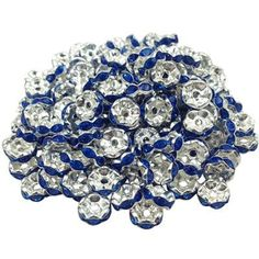 New! 5AAA+ Quality 50 piece/lot Cheap Handmade Rhinestone Loose Crystal Silver Plated Rondelle Spacer Beads Free LIF