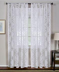 "miller curtains sheer preston grommet 48"" x 108"" panel | window"