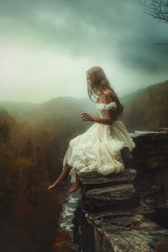 Conceptual photography shot in a beautiful North Carolina landscape. Photographer: TJ Drysdale. Model: Victoria Yore Designer: Ricky Lindsay Couture.