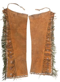 Cheyenne Beaded Polychrome Hide Leggings (9/26/2014 American Indian: Live Salesroom Auction)