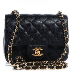 83edb10d5cd2 CHANEL Caviar Quilted Mini Square Flap Bag Black Chanel Square Mini, Mini  Chanel Bag,