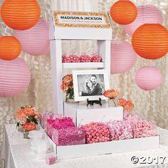 Pink Spring Wedding Candy Buffet Idea