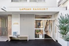 Lapuan Kankurit and their long-term distributor opened their first flagship store in Omotesando, Tokyo in the beginning of October SELECTED PRODUCTSMana and Takashi Kobayashi from Tokyo have designed the store, as well as the stores of Lapuan Brick Wall, Tokyo, Garage Doors, Store, Outdoor Decor, Shopping, Design, Home Decor, Interiors