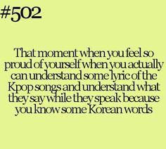 I can't relate to this even if I don't ant to because I'm Korean so I understand
