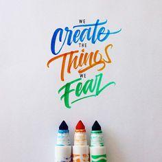 'Crayola & Brushpen Lettering Set 2' on Behance
