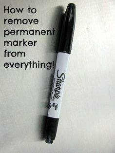 ~HOW TO REMOVE PERMANENT MARKER~  This might come in handy someday. Share so you can go back to it when you need to.  Clothes – Hand sanitizer Walls – Toothpaste or hairspray* Carpet – White vinegar Wood – Rubbing alcohol Dry Erase Board- Dry erase marker