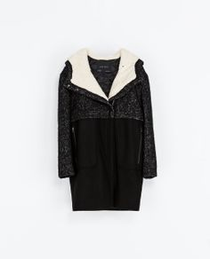 ZARA -COMBINATION COAT on sale for $79.99 I know it's almost Spring but I might not be able to help myself!