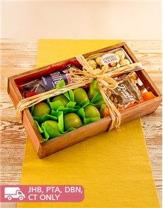 Fruit: Rustic Gift Crate of Fruit and Snacks!