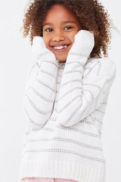 Product Name:Girls Striped Chenille Sweater (Kids), Category:Sale, Glen Plaid, Cropped Cami, Sweater Shop, Ribbed Sweater, Distressed Denim, Latest Trends, 21st, Forever 21, Mini Skirts