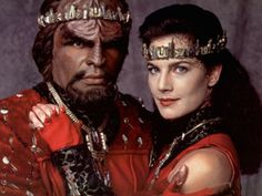 Star Trek: The Next Generation's character named Worf. He is my favorite character on this show. Yeah, this scabbed face dude rocks!