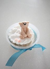 Teddy Bear Baby Shower Cupcake