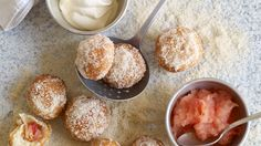 Pink Lady Apple Doughnuts with Apple purée - something so teeny tiny can't be bad for you, right? #recipe #food #baking
