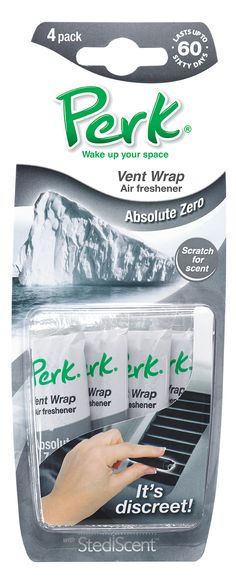 I would have loved this!  My car can always use a freshen up. PERK Vent Wrap Auto Air Freshener