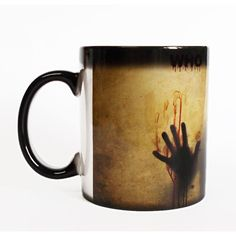 On 20 Off Walking Dead Mug Walking Dead Color Changing Mug Walking... ($14) ❤ liked on Polyvore featuring home, kitchen & dining, drinkware, drink & barware, grey, home & living, mugs, glass drinkware, glass coffee cups and birthday cup