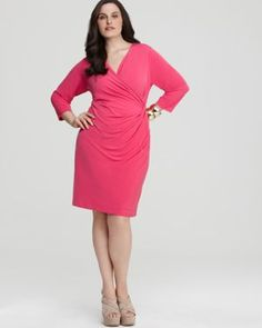 Drape dresses are great for a fuller figure!